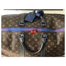 Louis Vuitton-Sac Keepall 55-Marron