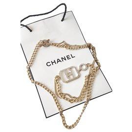 Chanel-Lange Halsketten-Silber,Golden