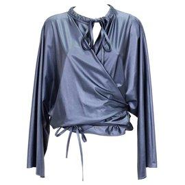 Balenciaga-Chemisier Balenciaga-Bleu