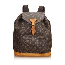 Louis Vuitton-Louis Vuitton Monogram Brown Montsouris GM-Marron