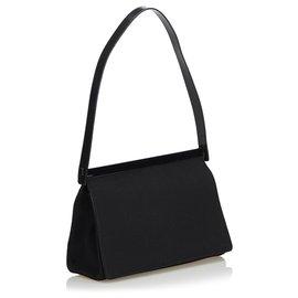 Gucci-Gucci Sac à bandoulière en tissu noir-Noir
