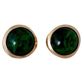Christian Dior-Boucles d'oreilles-Vert foncé