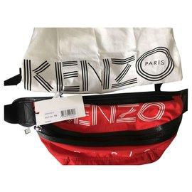 Kenzo-Kenzo banana clutch-Red