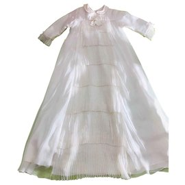 Baby Dior-Robe de baptême cérémonie-Blanc cassé