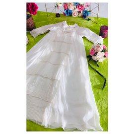 Baby Dior-Kleid der Taufzeremonie-Aus weiß
