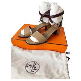 Hermès-Sandales-Taupe