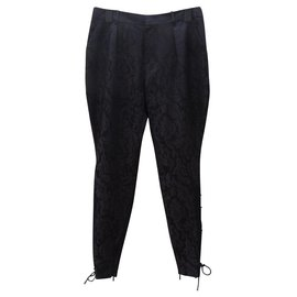 Gucci-Pantalons, leggings-Marron,Noir