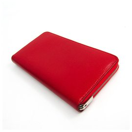 Céline-Celine Red Zipped Multifunction Wallet-Red