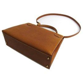 Hermès-Hermes Brown Peau Porc Kelly 32-Brown,Light brown
