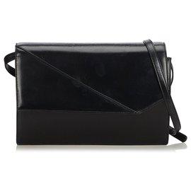 Gucci-Sac à bandoulière en cuir noir Gucci-Noir