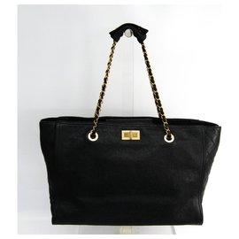 Chanel-Chanel black 2.55 Tote-Black