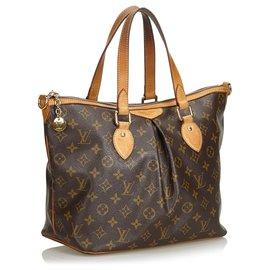 Louis Vuitton-Louis Vuitton Brown Monogram Palerme PM-Marron