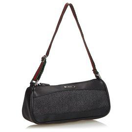 Gucci-Baguette en jean noir Web Gucci-Noir,Multicolore