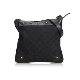 Gucci-Gucci Black GG Sac bandoulière Jacquard-Noir