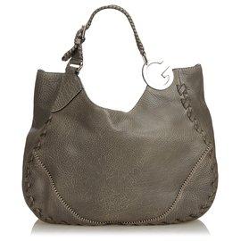 Gucci-Sac cabas Charlotte en cuir gris de Gucci-Autre,Gris