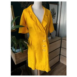 Yves Saint Laurent-Robe Portefeuille Yves Saint Laurent variation-Jaune