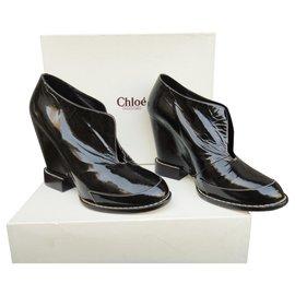 Chloé-low wedge boots Chloé-Black