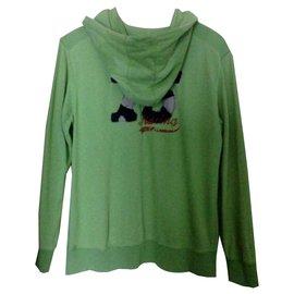Zara-Pullover-Hellgrün