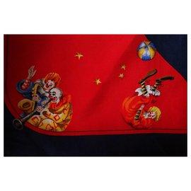 Chopard-Chopard silk pocket square-Red,Dark blue