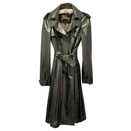 Burberry Prorsum-Burberry Prorsum Trench-coat en soie-Métallisé