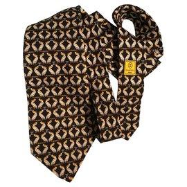 Chanel-ties-Black,Yellow