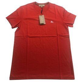 Burberry-tee shirt t-shirt burberry new neuf-Rouge