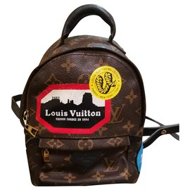 Louis Vuitton-Sac à dos Palm Springs Mini Louis vuitton-Marron