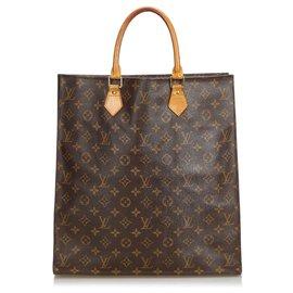 Louis Vuitton-Louis Vuitton Brown Monogram Sac Plat-Marron