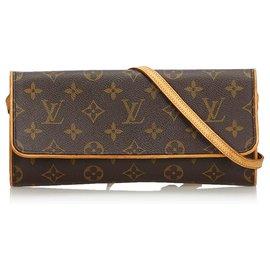 Louis Vuitton-Louis Vuitton Pochette Monogram Marron GM Double-Marron