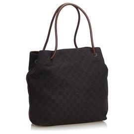 Gucci-Gucci Black GG Jacquard Gifford Sac cabas-Noir