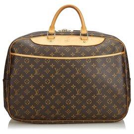 Louis Vuitton-Louis Vuitton Alize Monogram Marron 24 HEURES-Marron