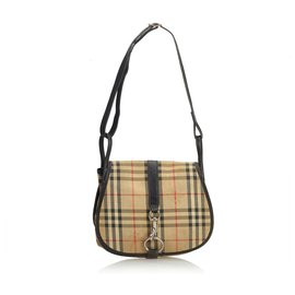 Burberry-Burberry Brown House Check Jacquard Crossbody Bag-Brown,Multiple colors,Beige