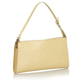 Louis Vuitton-Louis Vuitton Brown Epi Pochette Accessoires-Marron,Beige