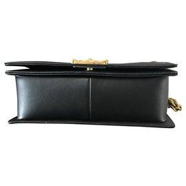 Chanel-CHANEL BOY black old mediunm size-Black