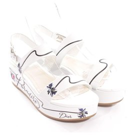 Christian Dior-Sandalen-Weiß