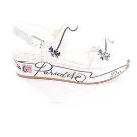 Christian Dior-Sandals-White