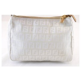Fendi-Fendi Zucca Hand Bag-White