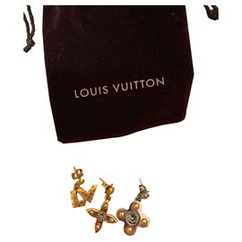 Louis Vuitton-Boucles d'oreilles Louis Vuitton-Argenté,Doré