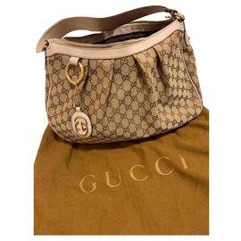 Gucci-Sac Gucci beige/marron-Marron,Beige