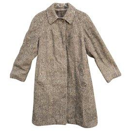 Burberry-Burberry coat in Irisg Tweed-Brown