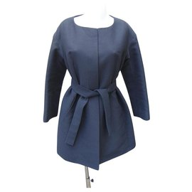 Chloé-Coats, Outerwear-Black,Navy blue