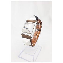 Hermès-Hermes Medor-Silvery