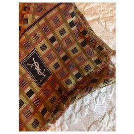 Yves Saint Laurent-Mixed.142x86 cm-Hazelnut