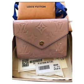 Louis Vuitton-Portefeuille compact Victorine-Rose