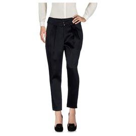 Saint Laurent-Pantalons, leggings-Noir
