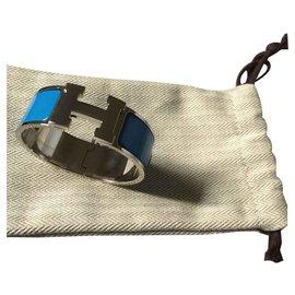 Hermès-Clic H Hermès Bracelet-Light blue