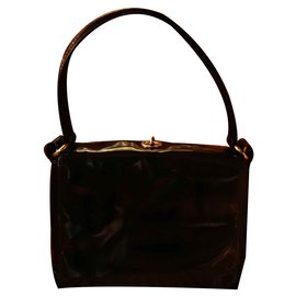 f121dca3bae Gucci-Sac porté épaule en cuir verni Gucci Kelly-Noir ...