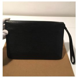 Louis Vuitton-Louis Vuitton - Pochette - Sellier Dragonne-Black
