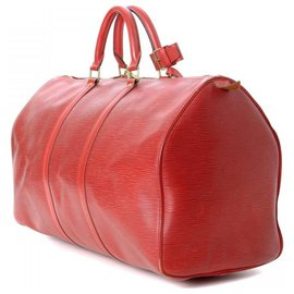 Louis Vuitton-Louis Vuitton - Keepall 45 - vintage-Rouge