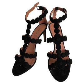 Alaïa-Heeled sandals-Black